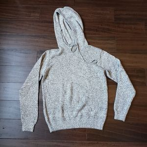 Frank & Oak Men's Knit Marled Gray Hoodie Medium